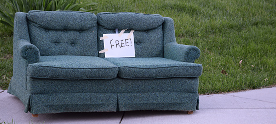 Furniture Removal Costs, How To Get Rid Of Old Sleeper Sofa